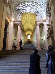 Hinauf zur Sixtinischen Kapelle